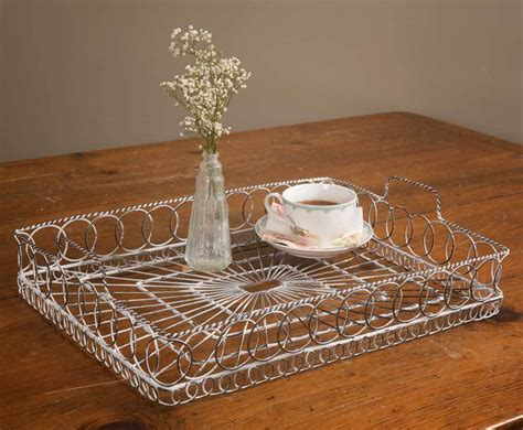 Vintage Rustic Wire Serving Tray Tea Coffee And 50 Similar
