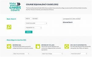 Course Equivalency Guide  Ceg  - Website User Manual