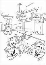 Coloring Cars Mater sketch template