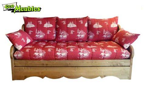 canapé convertible montagne eco meubles jean de sixt meuble style montagne