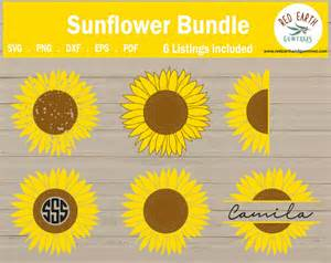 sunflower svg sun flower svg sunflower monogram svg split monogram frame watering