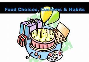 food choices customs habits cev70019