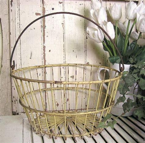 wire egg basket antique wire basket flower basket farmhouse decor to die for