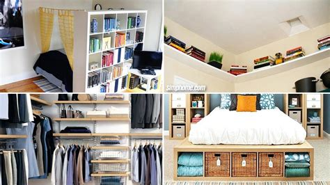 diy small bedroom storage ideas simphome