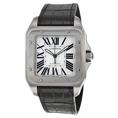 Cartier Santos 100 Steel Automatic Large Men's Watch. Gold Diamond Band. Silver Arrow Bracelet. Recycled Engagement Rings. Solid Gold Medallion