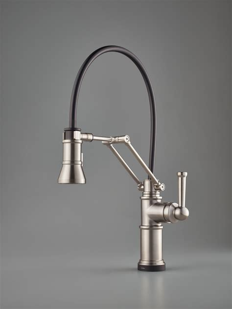 articulating kitchen faucet single handle articulating faucet for residential pro