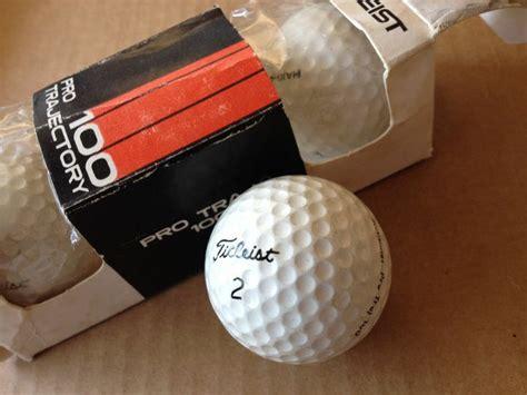 1976 TITLEIST pro trajectory 100 sleeve 3 golf balls