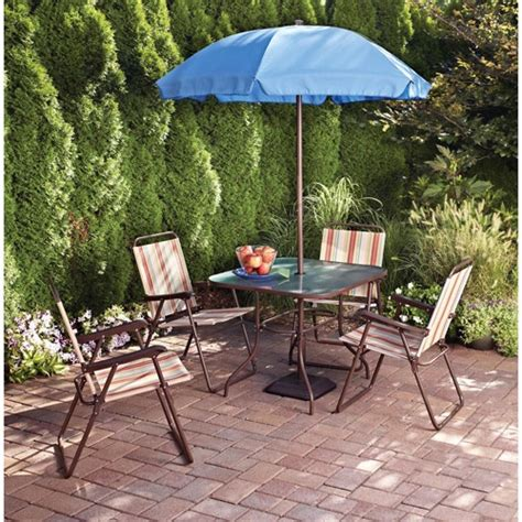 Cheap Patio Sets With Umbrella by 18 Best Images About Inexpensive 4 Person Dining Patio Set