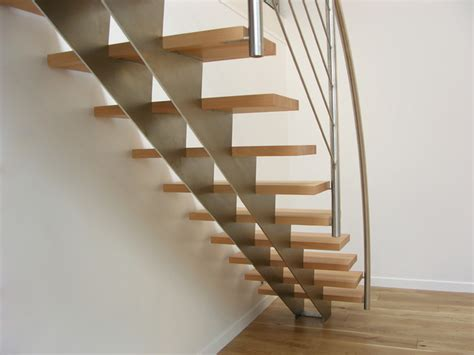 escalier bois et inox escalier droit design inox et bois contemporain escalier autres p 233 232 tres par