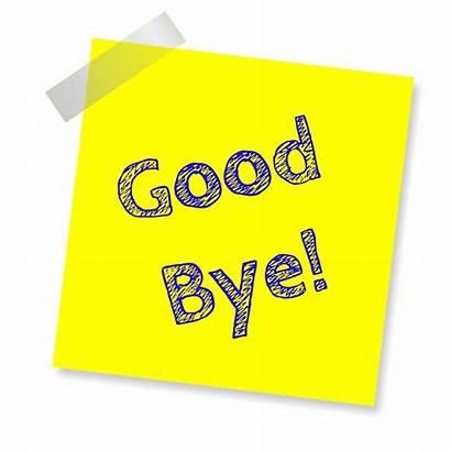 Bye Note Sign Yellow Sticker Pixabay