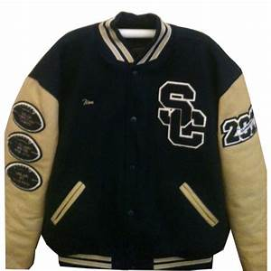 shiloh christian With custom letterman jacket letters