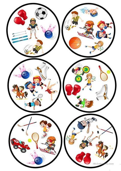 sports dobble game  images esl games esl