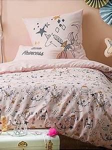 Parure De Lit Fille 90x190 : linge de maison linge de lit parure kiabi ~ Teatrodelosmanantiales.com Idées de Décoration