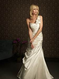 one shoulder flower formal wedding dress mermaid for With one strap wedding dresses