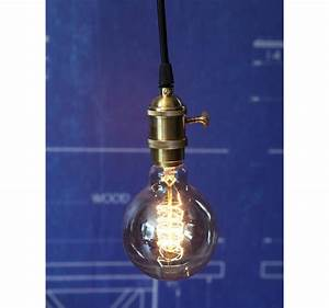 Suspension Ampoule Vintage : suspension douille cuivre a interrupteur pour ampoule filament edison ~ Teatrodelosmanantiales.com Idées de Décoration