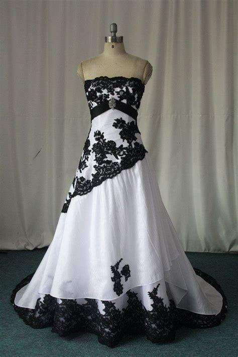 black and white wedding dresses 2016 custom made plus size bridal gowns ebay