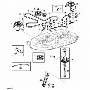 John Deere 42 U0026quot  D100 Series Deck Parts Diagram