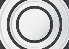 Abstract White Circle Black Background by Black And White Abstract Background Stock Photo