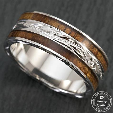 sterling silver hand engraved hawaiian jewellery ring
