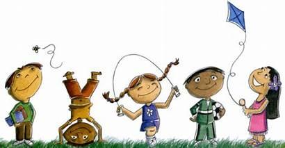 Playing Cartoon Children Clipart Play Kid Thinking