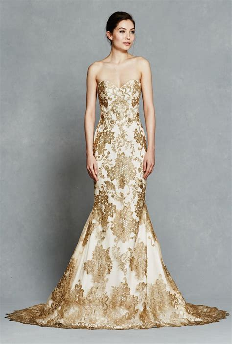 Kelly Faetanini Spring 2017 Wedding Dresses Gold