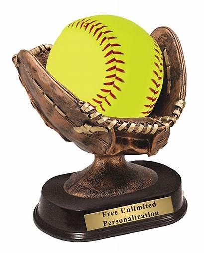 Softball Trophy Glove Resin Award Trophies Riser