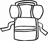 Backpack Coloring Camping Drawing Pages Lover Mountain Easy Netart Clipartmag sketch template