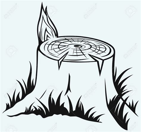 tree trunk clipart black and white hollow tree stump clipart clipground