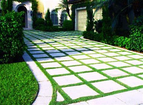 eco friendly driveway grass concrete pattern paving