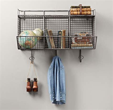wire hanging shelf industrial wire 3 bin shelf zinc