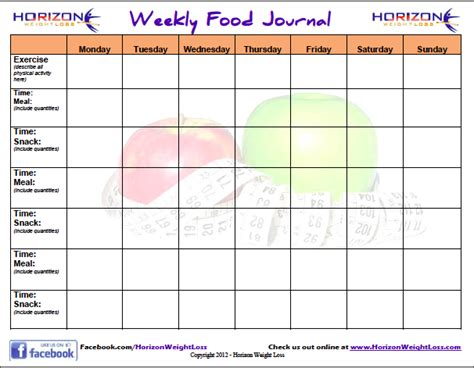 free food journal template 8 best images of free printable food diary online