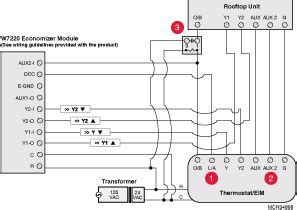 wiring wiring   economizer module   heat pump system