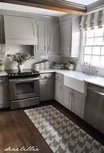 darker gray cabinets and our marble review dear lillie With kitchen colors with white cabinets with how to make redbubble stickers