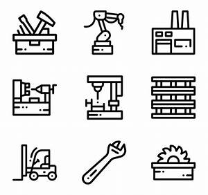 7 manufacture icon packs - Vector icon packs - SVG, PSD ...