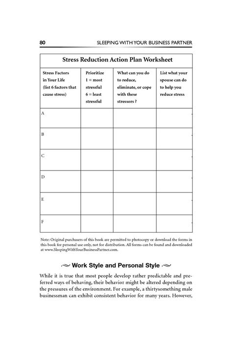 stress management worksheets stress reduction