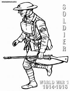 World War 1 Colouring In Sheets The Color Panda