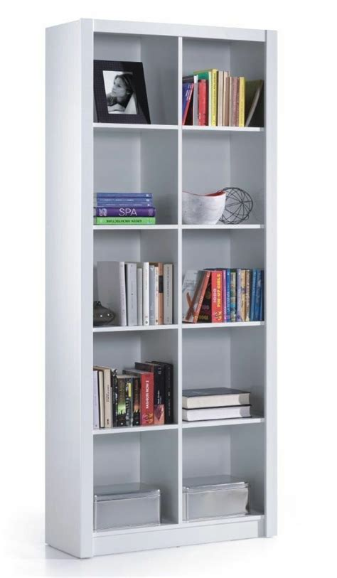 Cube Bookcase White by Ciara 5 Tier Bookcase Room Divider Display 10 Cube Shelf