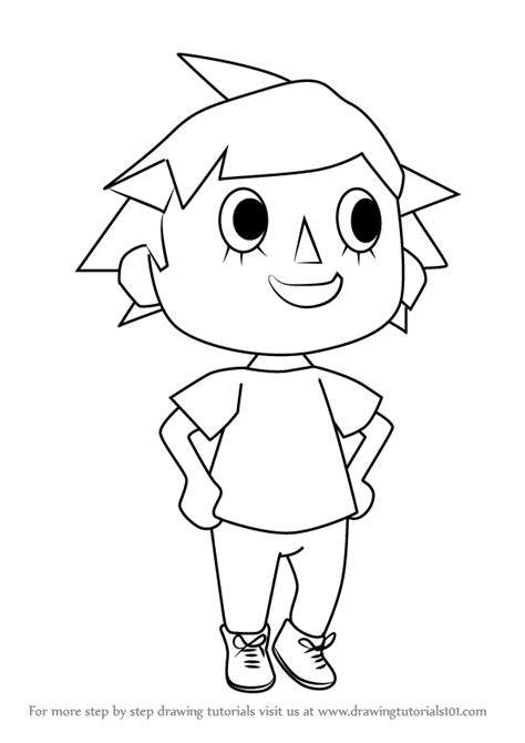 learn   draw player  animal crossing animal crossing step  step drawing tutorials