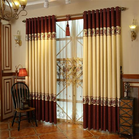 cotton and linen materials luxury window curtains designs