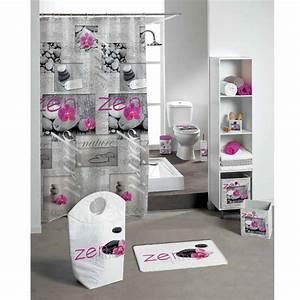 Rideau De Salle De Bain : rideau de douche zen spirit rose premium rideau de ~ Premium-room.com Idées de Décoration