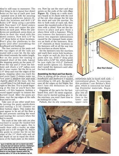 bed frame plans woodarchivist
