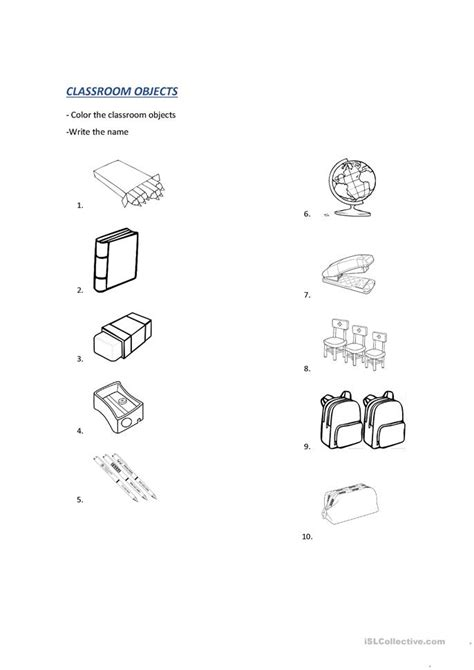 Classroom Objects Worksheet  Free Esl Printable Worksheets Made By Teachers