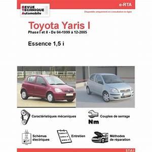 Toyota Yaris Essence : revue technique toyota yaris i essence 1 5 i rta site officiel etai ~ Gottalentnigeria.com Avis de Voitures