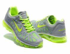 Nike Shoes Grey And Lime Green