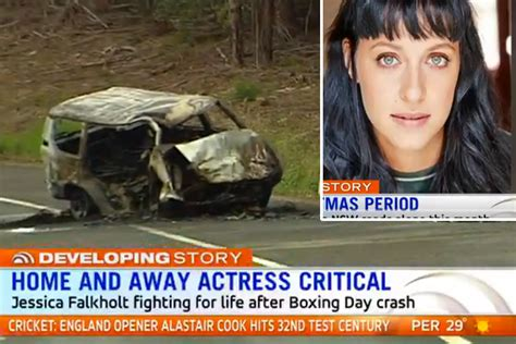actress jessica falkholt update home and away actress jessica falkholt remains in critical