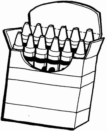 Crayons Coloring Box Pages Clipart Crayon Drawing