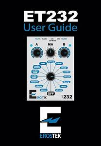 User Guide For Et232  U2013 Erostek