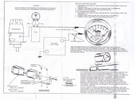 Technical Faria Tachometer The