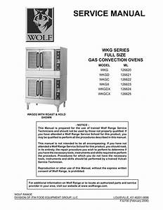 Wolf Wkgd 126621 Convection Oven User Manual