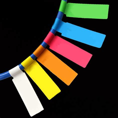 white color network cable labels sticker  small